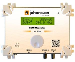 8202 - HDMI Модулятор - Модулятор HDMI в DVB-T, DVB-C, DMB-T и ATSC: 1 HDMI вх / 1 RF вх - вых